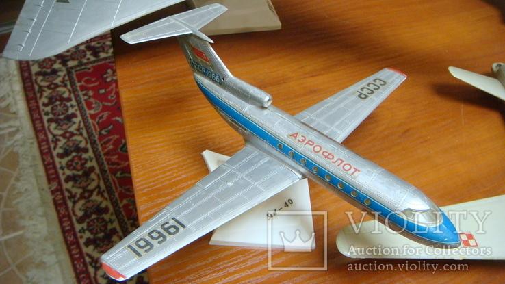 Самолеты СССР, сборная модель, 8 шт, Ту-144, Як-40, Як-24, фото №7