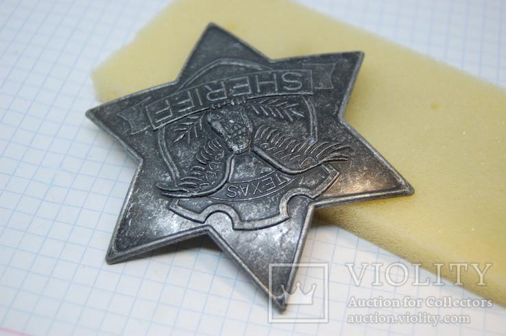 Знак Sheriff Texas. Шериф Звезда. США. Большой.копия, фото №4