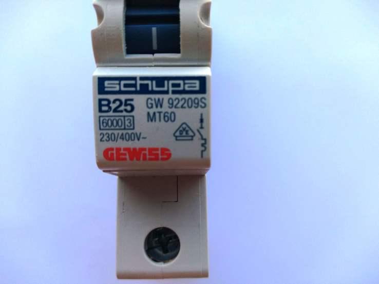 Электрический автомат Gewiss B25 230/400V GW92209S, фото №2