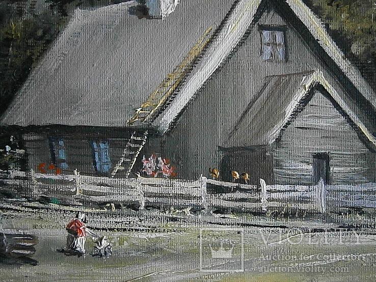 Деревня  масло холст 50х35 А.Акулов, фото №4