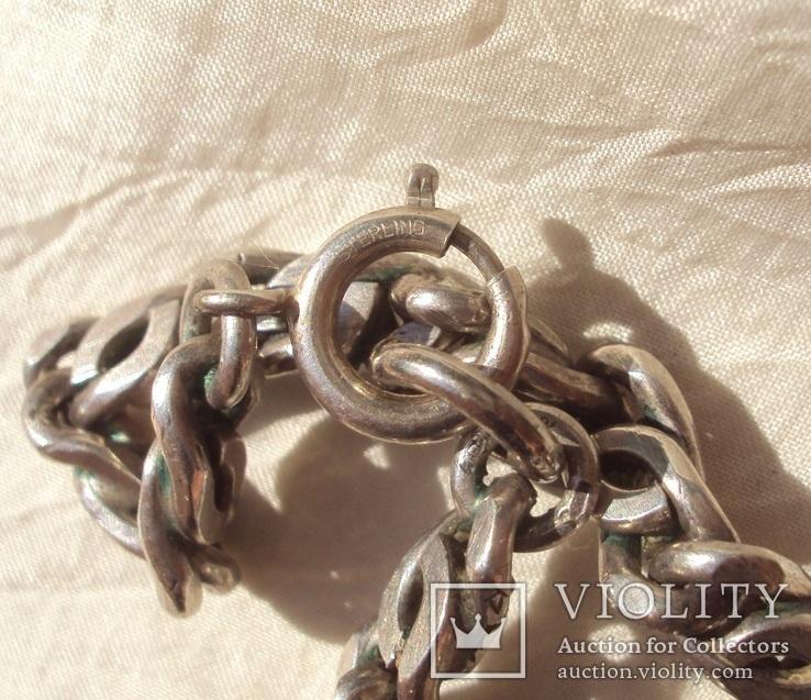 Цепь серебро 81 грамм, Италия, Sterling., фото №3