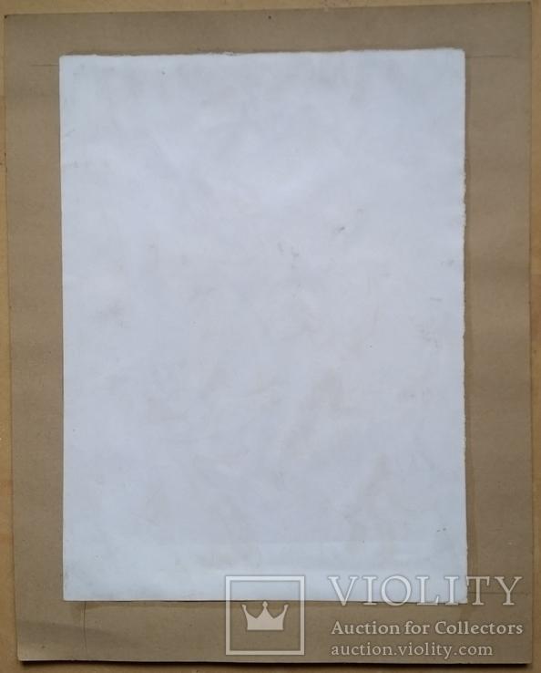 """Картина """"Овен"""", папір, акварель, туш, 42х31 см, фото №8"""