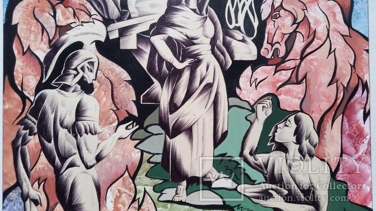 """Картина """"Овен"""", папір, акварель, туш, 42х31 см, фото №5"""