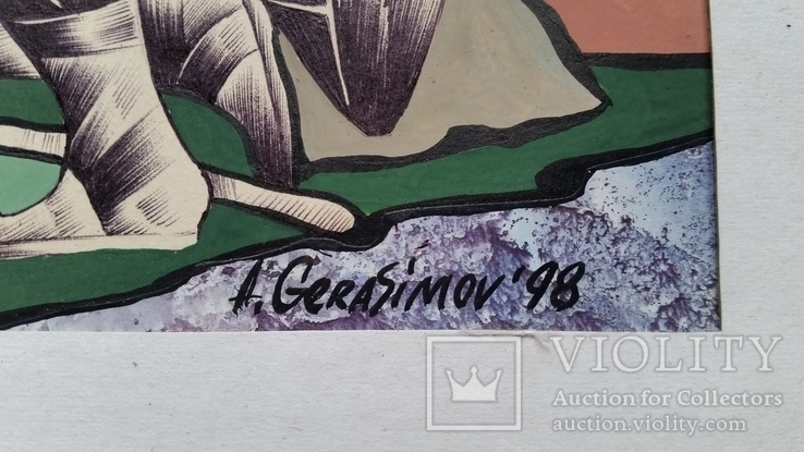"""Картина """"Овен"""", папір, акварель, туш, 42х31 см, фото №7"""