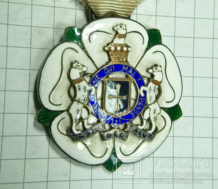 Награда масонов STEWARD. Серебро. RMIG 1932 г., фото №4