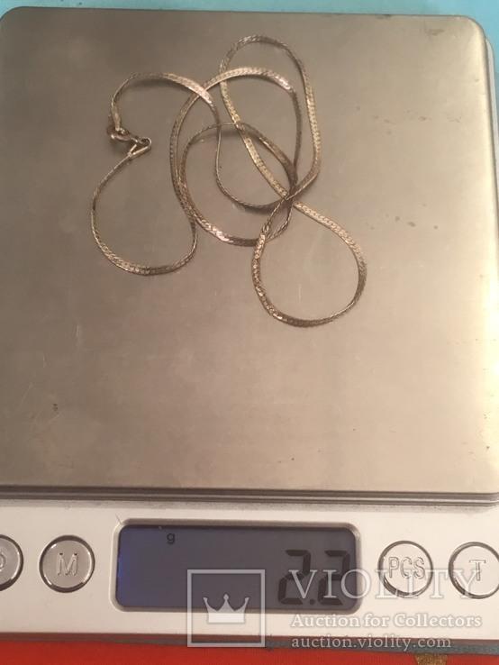 Цепочка серебро, фото №4