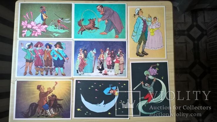 """Набор открыток """"Герои любимых книг"""" художник Г.Вальк, фото №3"""