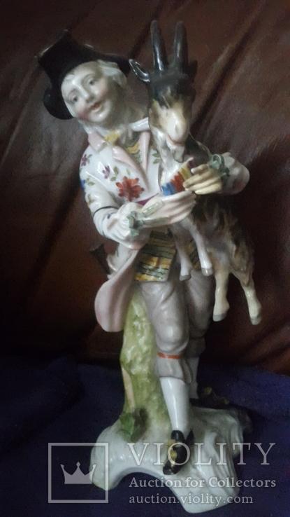 Старинная фарфоровая фигурка Мейссен с клеймом АвгустРекс, фото №2