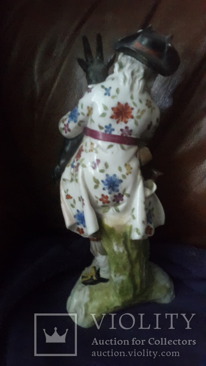 Старинная фарфоровая фигурка Мейссен с клеймом АвгустРекс, фото №4