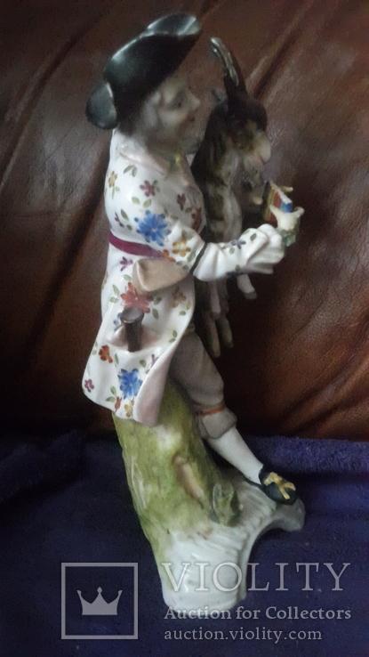 Старинная фарфоровая фигурка Мейссен с клеймом АвгустРекс, фото №5