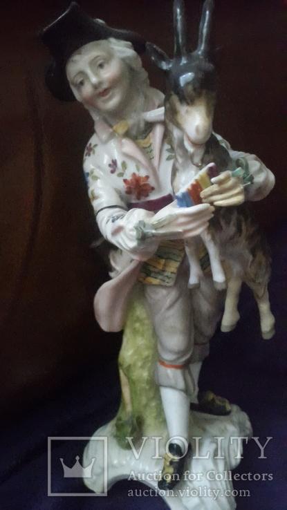 Старинная фарфоровая фигурка Мейссен с клеймом АвгустРекс, фото №9