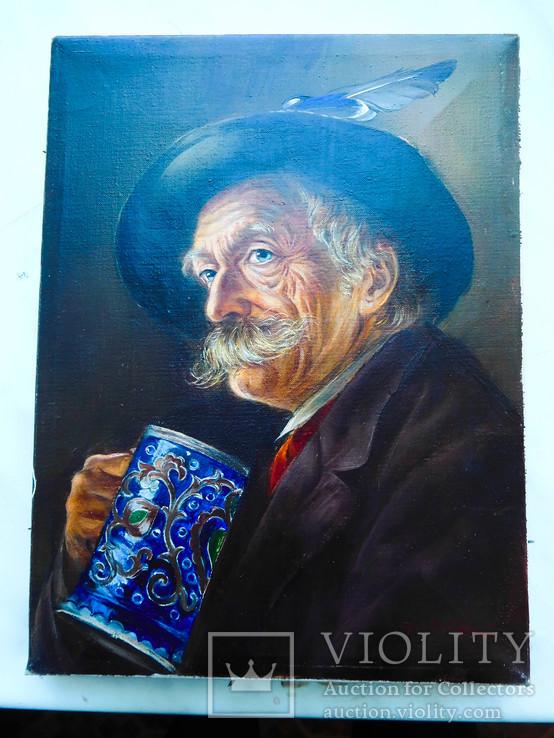 Европейская живопись  Старый Любитель пива