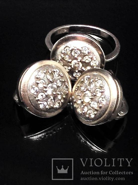 Кольцо и серьги,  позолота, фото №2