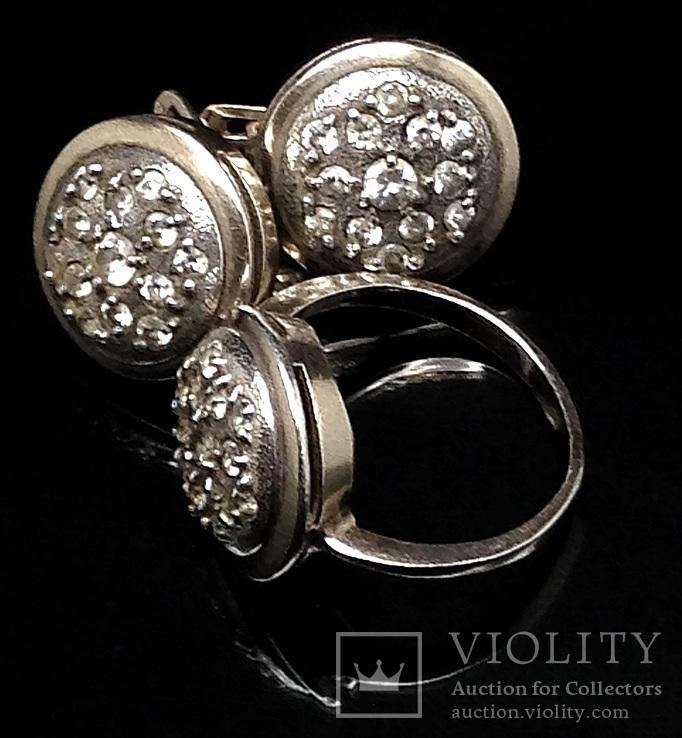 Кольцо и серьги,  позолота, фото №8