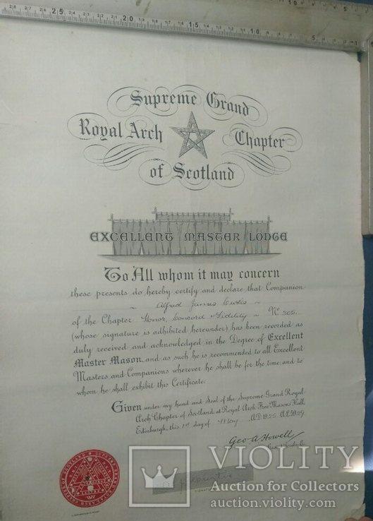 Масонский документ 1925г