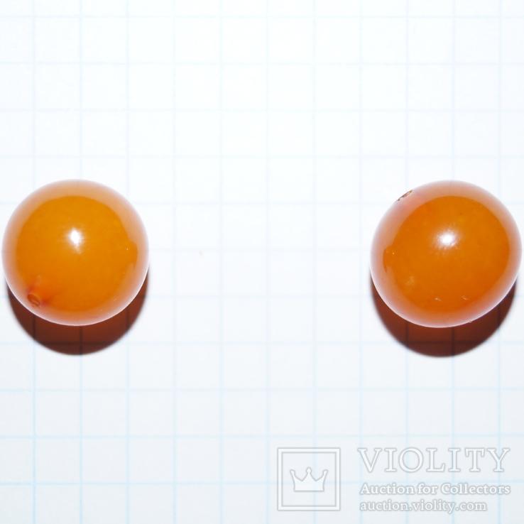 2 бусины (Янтарь), фото №3