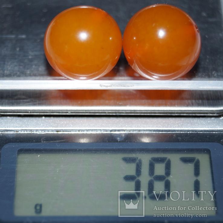 2 бусины (Янтарь), фото №2