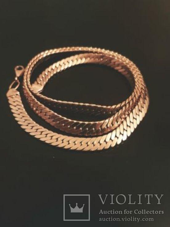 Золотая цепочка 55 грамм 583, фото №2