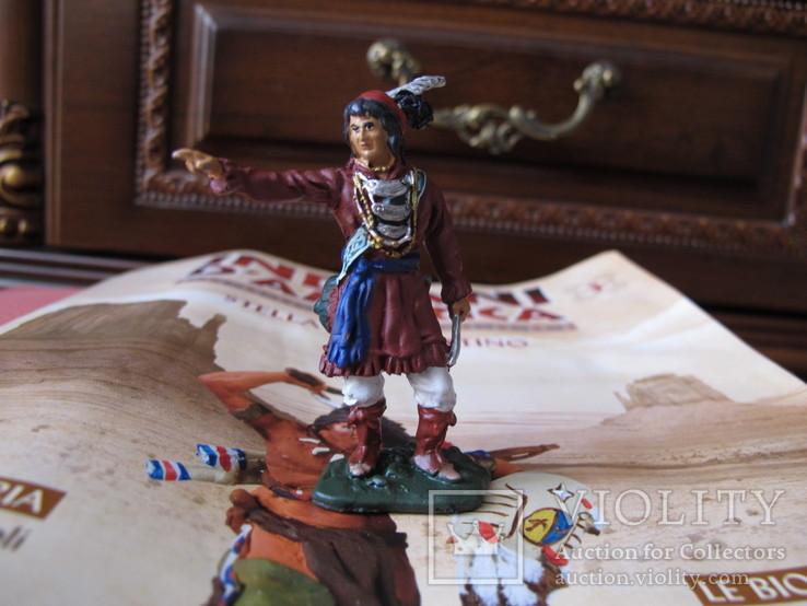 Оловянные индейцы . 8 шт одним лотом . Италия 65 мм, фото №8