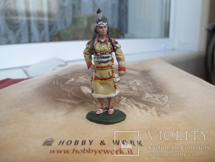 Оловянные индейцы . 8 шт одним лотом . Италия 65 мм, фото №11