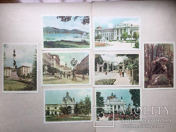 Старые открытки  Львов. 8 штук. 50-е., фото №2