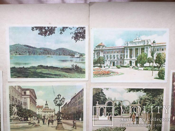 Старые открытки  Львов. 8 штук. 50-е., фото №4