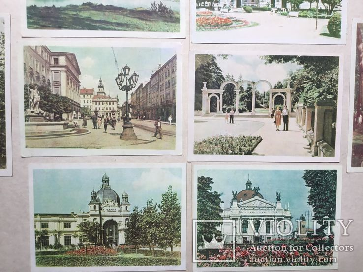 Старые открытки  Львов. 8 штук. 50-е., фото №5