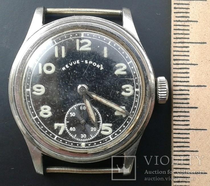 Немецкие военные часы REVUE-SPORT DH, нерж. сталь, 1940 гг.