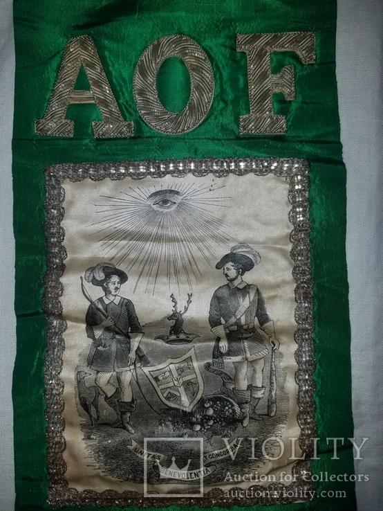 Масонская ритуальная лента орден знак AOF