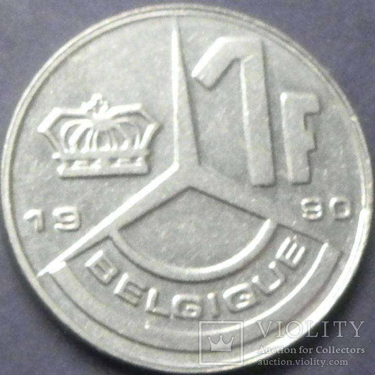 1 франк Бельгія 1990 Belgique, фото №2