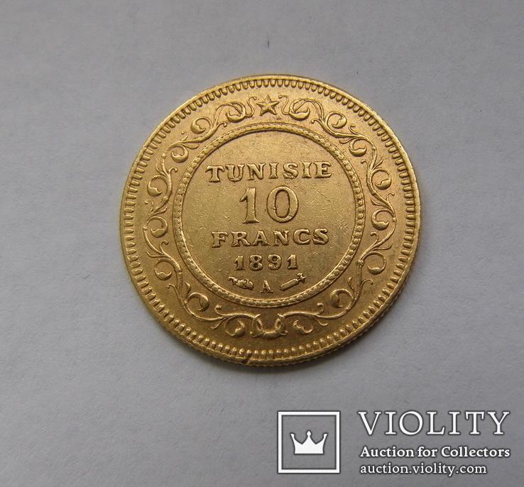 10 франків 1891 р. Туніс