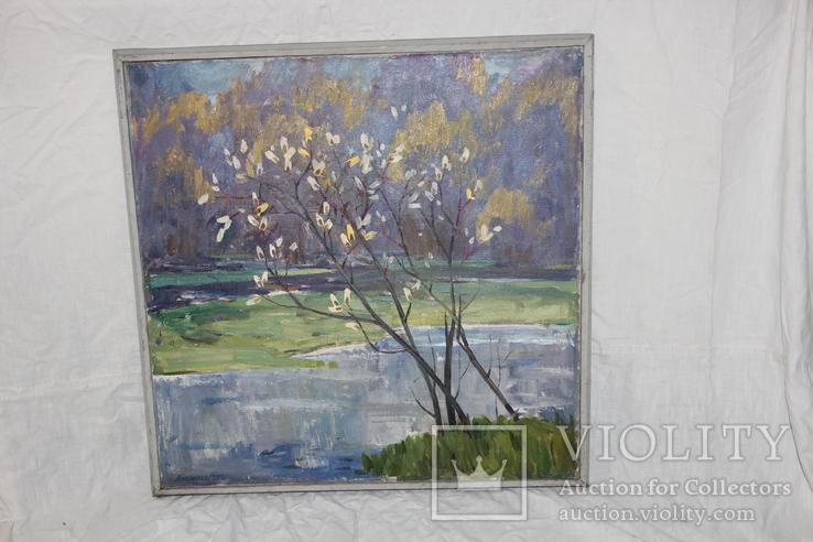 Антипов М.В. Весенний пейзаж. 1989. 60*60