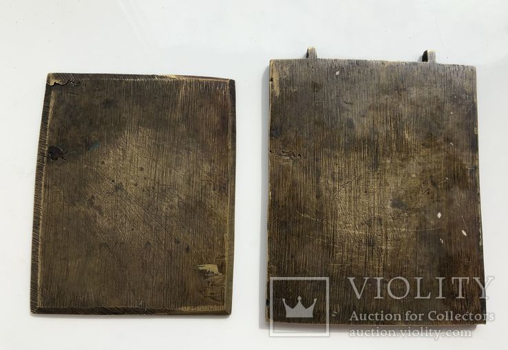 Икона-пластика бронза Деисус, фото №3