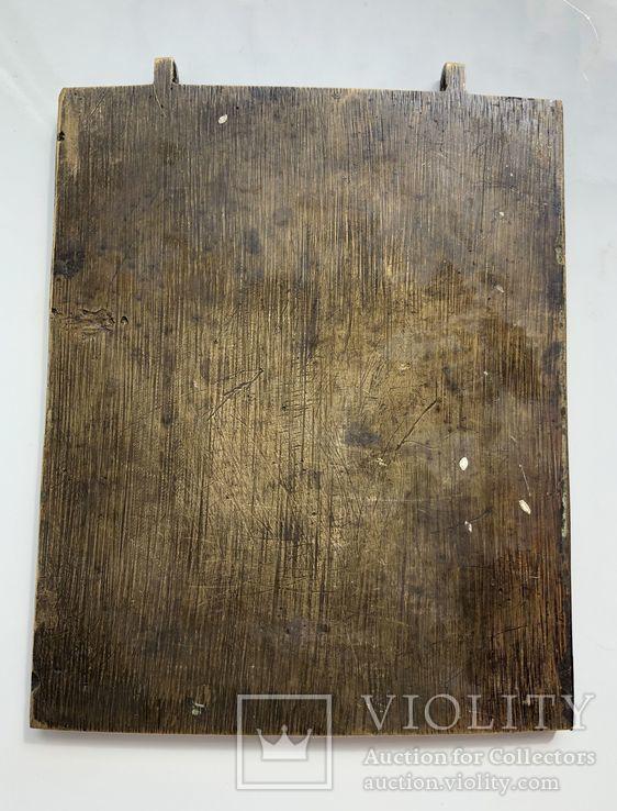 Икона-пластика бронза Деисус, фото №6