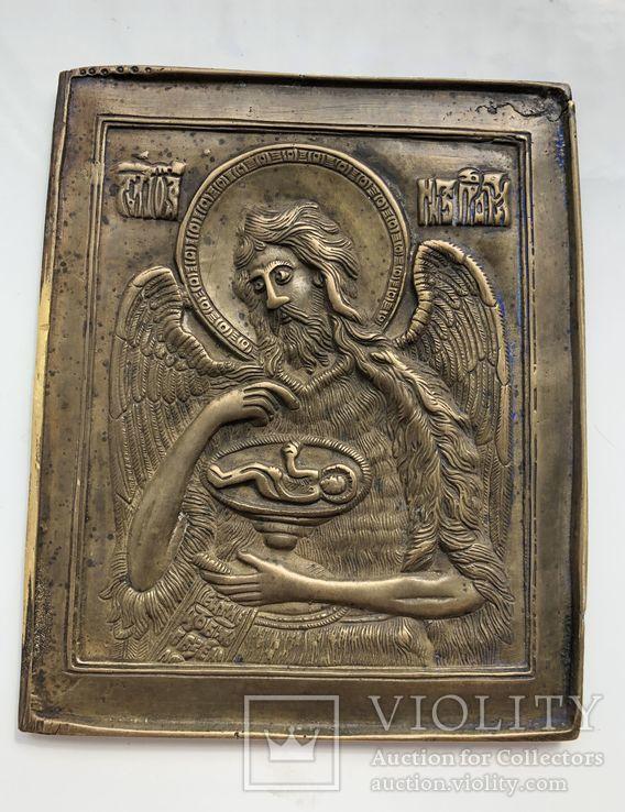 Икона-пластика бронза Деисус, фото №7