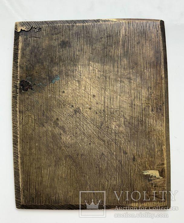 Икона-пластика бронза Деисус, фото №9