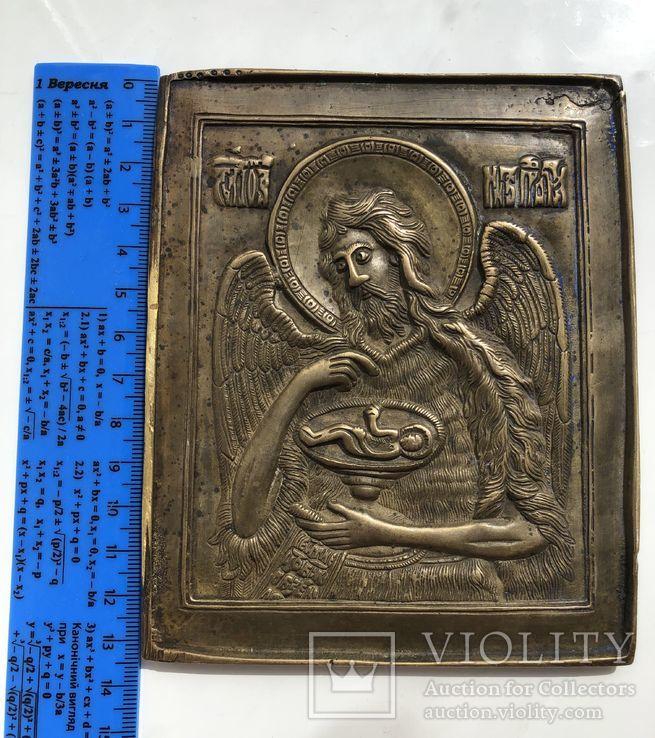 Икона-пластика бронза Деисус, фото №11