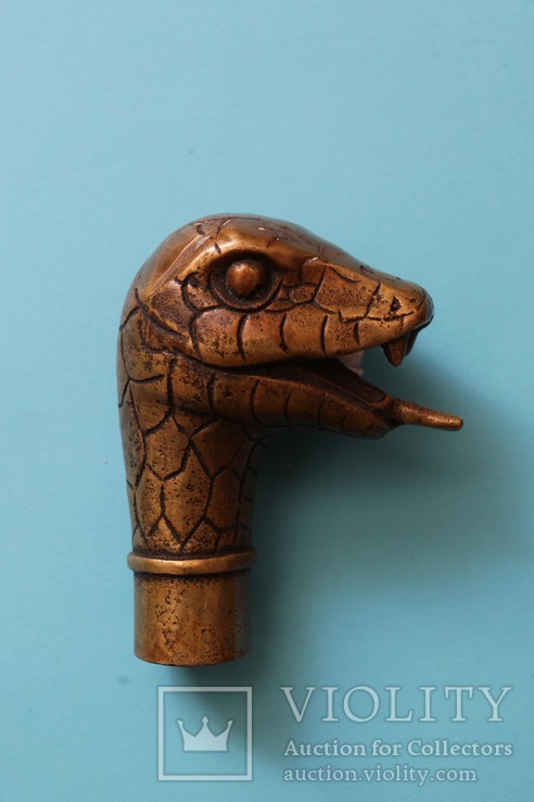 """Змей"" рукоять для трости, бронза, фото №3"
