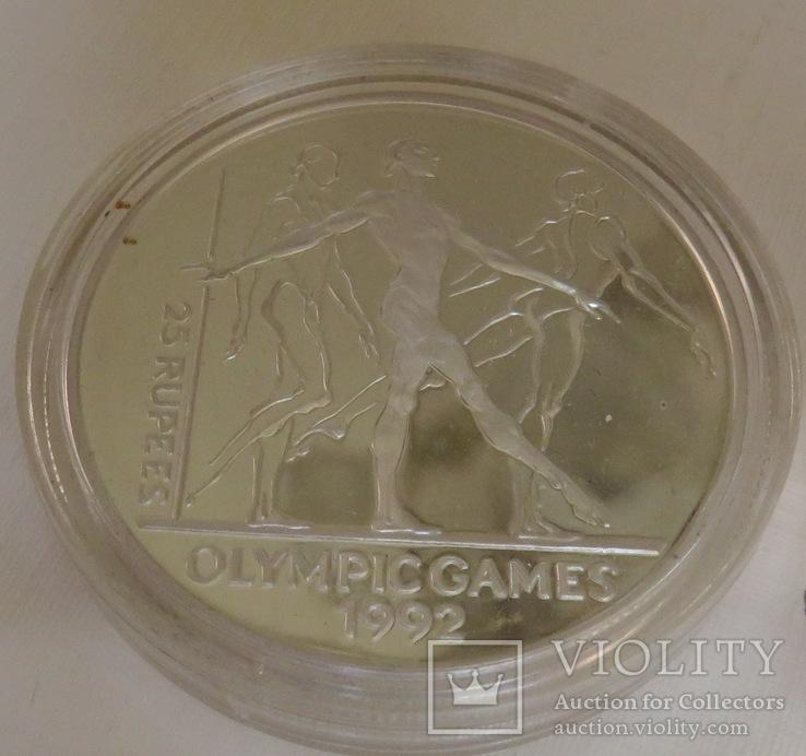 25 рупий 1992 года, Республика Сейшелы,'' Олимпийские игры, гимнастика'', фото №2