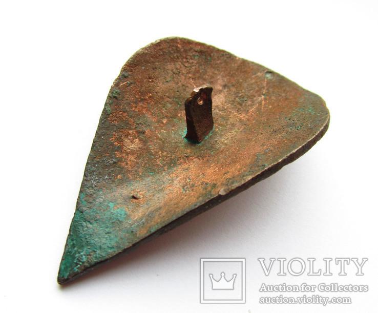Большая пуговица с эмалью КР, дробница щитовидная , процветший крест крин, фото №4