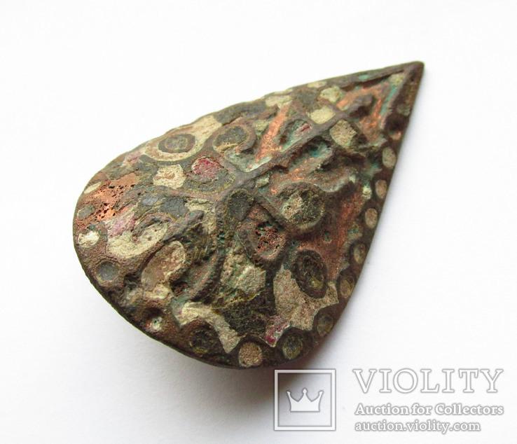 Большая пуговица с эмалью КР, дробница щитовидная , процветший крест крин, фото №7
