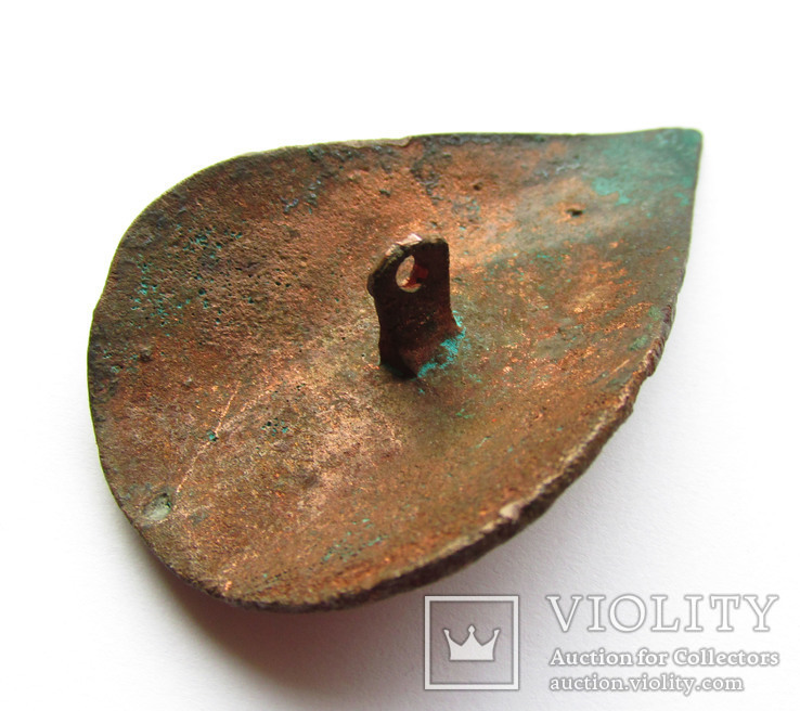 Большая пуговица с эмалью КР, дробница щитовидная , процветший крест крин, фото №9