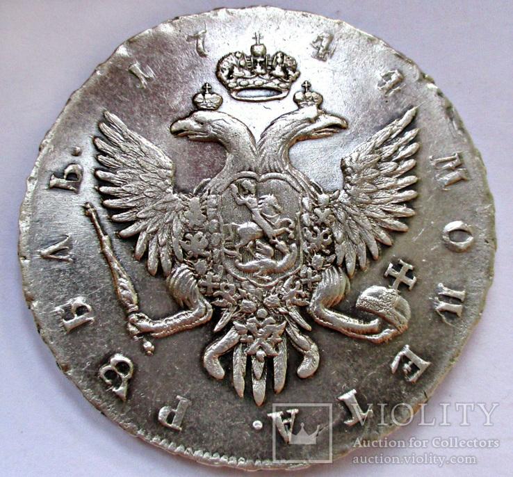 Рубль 1744 года (СПБ) aUNC