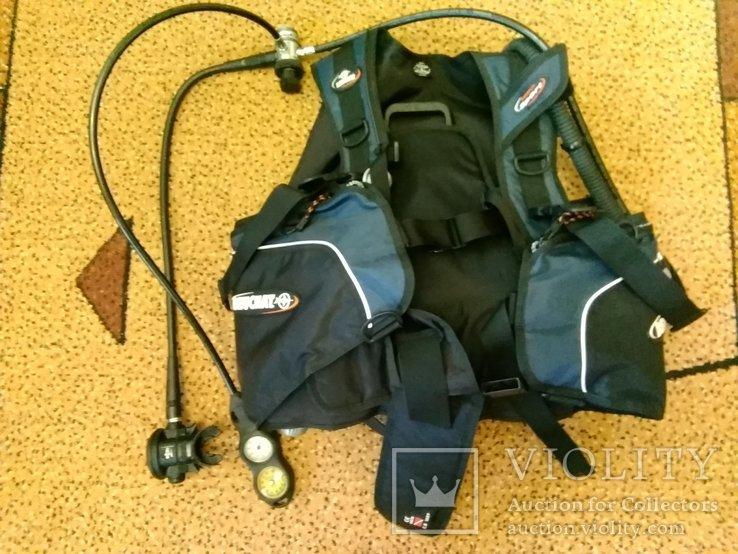 Жилет-компенсатор плавучести,регулятор,консоль с приборами, фото №7