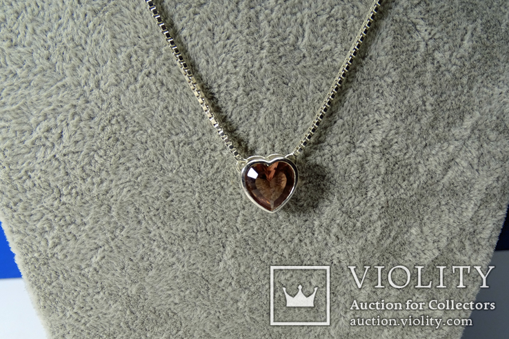 Колье Esprit c кулоном. Серебро 925, камень. Клейма., фото №4