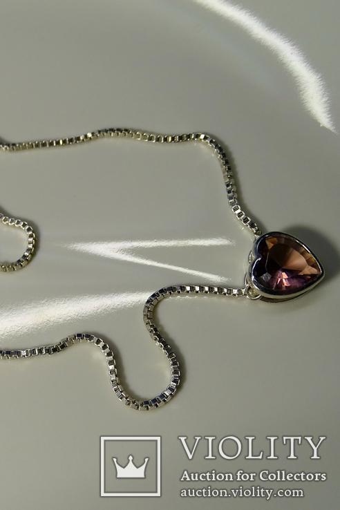 Колье Esprit c кулоном. Серебро 925, камень. Клейма., фото №5