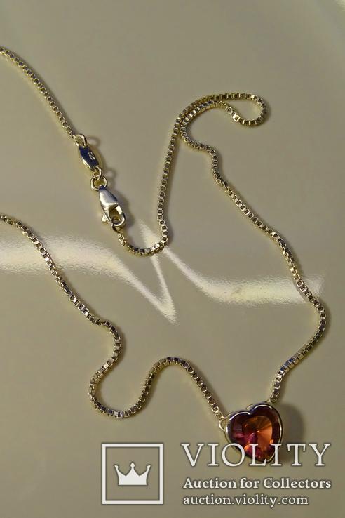 Колье Esprit c кулоном. Серебро 925, камень. Клейма., фото №6