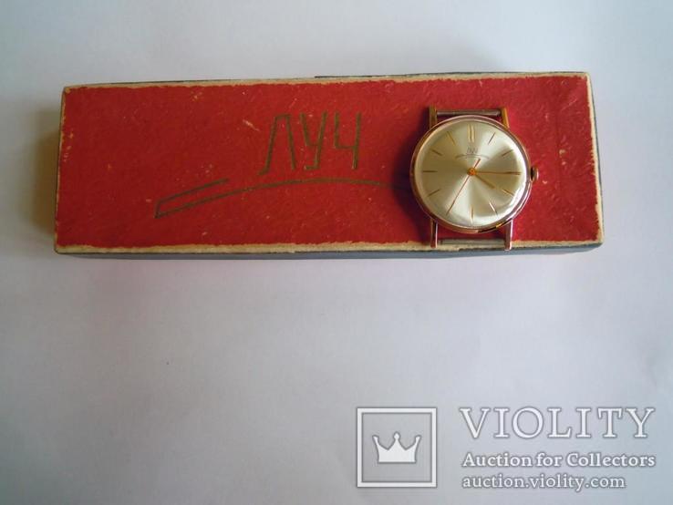 Золотые часы Луч 583, фото №4