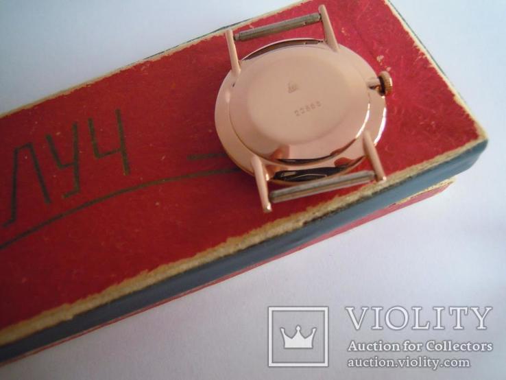 Золотые часы Луч 583, фото №8