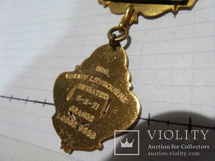Масонская медаль  знак масон 2114, фото №5